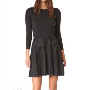 Joie Peronne Cashmere & Wool Pleated Sweater Dress